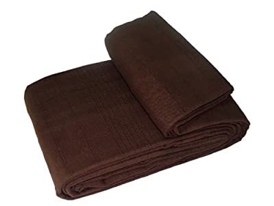 EHC 2-Piece 100 Percent Cotton Tumble Twist Bathmat and Pedestal Mat Set