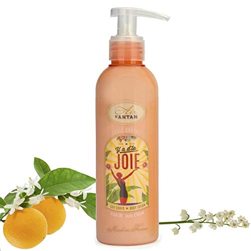 Un air d'antan crema corpo alla francese joie con burro di karitè e olio d'argan - profumo originale : mughetto, fiore d'arancio e rosa, formula idratante e nutriente - per donna, 200ml, compleanno