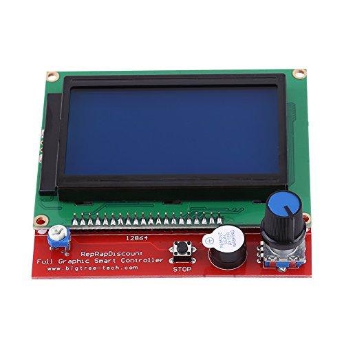 Preisvergleich Produktbild RAMPS 1.4 Mega Shield + 12864 Grafik Smart LCD Display Controller + MEGA2560 R3 Board + 5pcs A4988 Schrittmotor Fahrer mit Kühlkörper für Arduino RepRap 3D Printer Kit