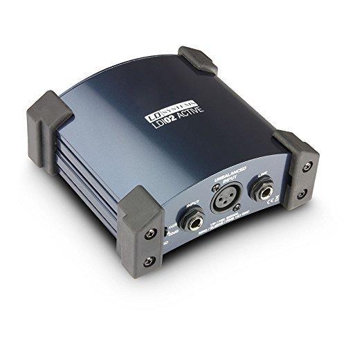 LD Systems ldi02Box di attivo Stabile Alloggiamento in Metallo con Protezione Angoli Blu - Alluminio Box Livello