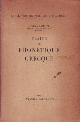 Traité de phonétique grecque.