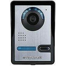 MOUNTAINONE Timbre Video Portero Intercomunicador (Inalámbrico Wifi, detección de movimientos, P2P IP,