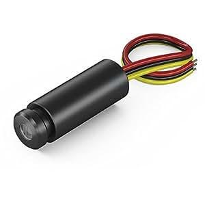 Laser par point, rouge, 658nm, 1mW, 5V DC, Ø12.7x34mm, Classe laser 2, Longueur de câble 150mm - 70116342