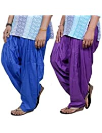 ROOLIUMS ® (Brand Factory Outlet) Punjabi Patiala Salwar Pack -2 Free size (Blue, Purple)