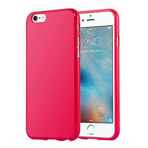 Cadorabo - TPU Ultra Slim Jelly Silikon Hülle für >            Apple iPhone 6 / 6S            < - Case Cover Schutz-Hülle Bumper in JELLY-GRÜN JELLY-ROT
