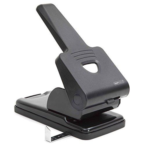 Rapesco 865-P2 Bürolocher (zweifach Locher,Hebelmechnismus,locht bis zu 63 Blatt)