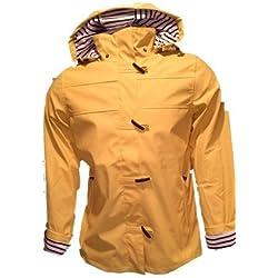 Chubasquero Marinero Con Forro De Rayas Algodón Talla 38 Color Amarillo