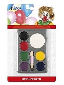 Boland 45062 - Juego de Maquillaje, diseño de Payaso, Multicolor