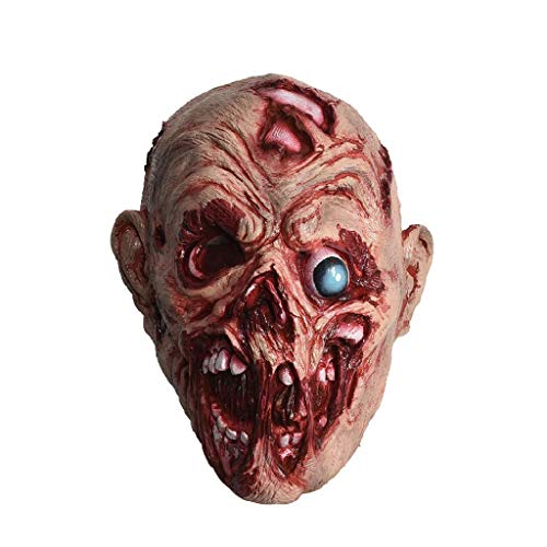 Party Kostüm Sexy Monster - Pkfinrd Walking Dead Vollkopf Maske, Resident Evil Monster Maske, Zombie Kostüm Party Latex Maske for HalloweenDecaying Zombie , mit Maske for Halloween Party