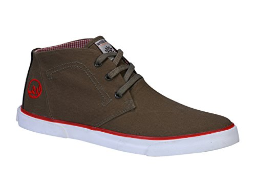 Woodland Men's Olive Sneakers - 8 UK/India (42 EU)(GC 1952115C)  available at amazon for Rs.1397