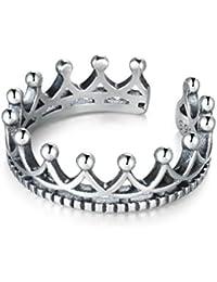 Amazon.es  coronas de princesas - Plata   Anillos   Mujer  Joyería 732a77ec84d