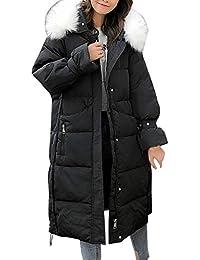 a9cabe273062e2 Mambain Cappotti Piumino Donna Inverno Giubbotto Cappotto Donna Lungo Caldo  Elegante Pesante con Cappuccio Parka Donna