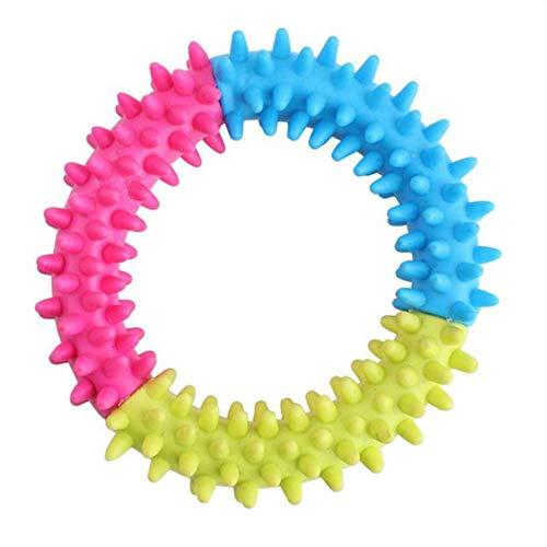 Busirde Buntes weicher Durable TPR-Gummiring Dental Kauen, Beißen Verfolgen Ausbildung Spielzeug für Welpen -
