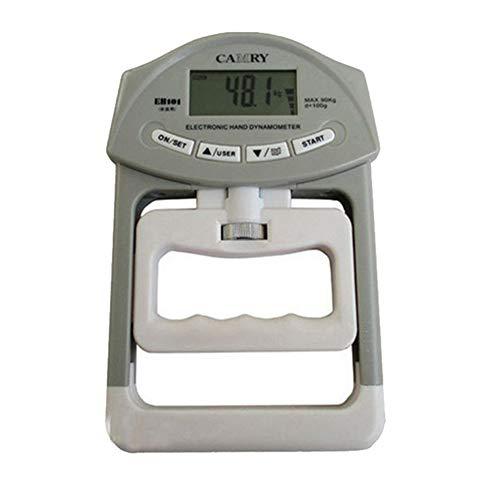 obiqngwi Mode 198lb / 90kg Elektronische Digital-LCD-Handgriff-Stärke-Dynamometer-Messinstrument - Grau -