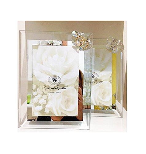 Cornice con motivo in cristallo swarovski | ranoldi (cuori e fedi argento 9x13 int.)