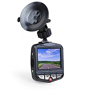 1080P Full HD Dash Cam (16GB Micro SD Card Included), Innoo Tech Night Vision Car Camera with G-sensor, Parking Monitor, 170 Degrees Wide Angle Lens, Motion Detection, 24 Hours Loop Recording Car Video Camera - Black
