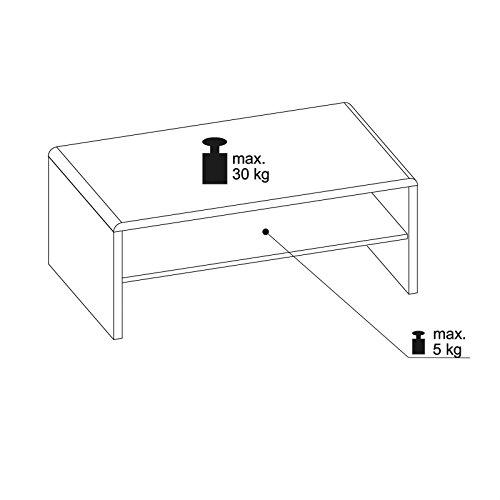 CARO-Möbel TV Lowboard Couchtisch Fernsehtisch Lenni, in Betonoptik, mit Ablagefach, 100 x 40 x 40 cm - 2
