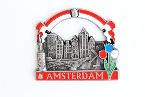 Imanes de nevera decorativos, fabricados con metal, diseños de Venecia, París, Roma, Praga, Ámsterdam, Barcelona, Dubai y Tailandia, ideales como regalo de recuerdo
