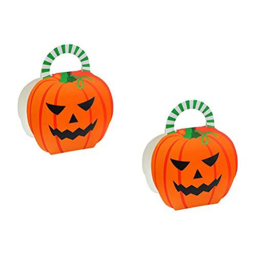 TOYANDONA 25PCS Halloween-Bevorzugungs-Kasten-Kind-Kürbis-Süßigkeits-Beutel für Halloween-Party-Dekoration