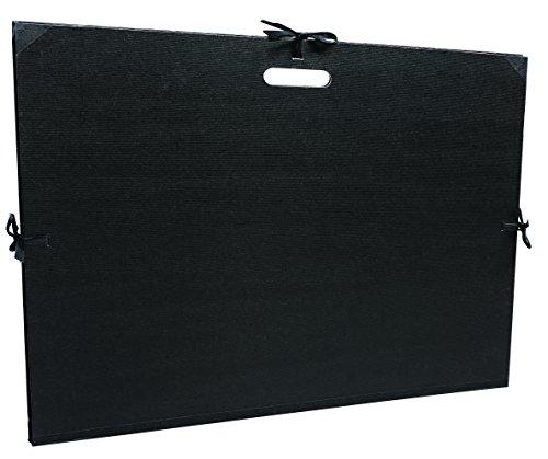 Clairefontaine 38929C Zeichenmappe Kraft mit Bändern und gestanztem Griff, DIN B2+ 59x72 cm,...