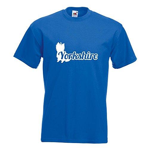 KIWISTAR - Yorkshire mit Name Terrier T-Shirt in 15 verschiedenen Farben - Herren Funshirt bedruckt Design Sprüche Spruch Motive Oberteil Baumwolle Print Größe S M L XL XXL Royal
