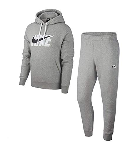 Nike Herren Sportswear Trainingsanzug, grau (DK Grey Heather), L