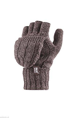 Heat Holders - Damen Thermo fingerlose Handschuhe, Fausthandschuhe-Einheitsgröße, 2.3 tog (Beige)