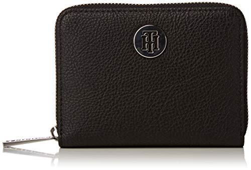 Tommy Hilfiger Damen Th Core Compact Za Wallet Geldbörse, Schwarz (Black), 2.5x10.199999999999999x12.7 Centimeters