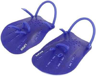 Sourcingmap - Palas de natación (plástico), color azul