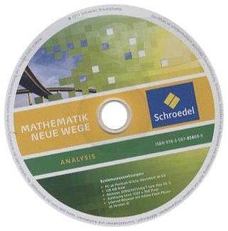 Mathematik Neue Wege SII - Analysis II, allgemeine Ausgabe 2011: CD-ROM Analysis: Einzelplatzlizenz