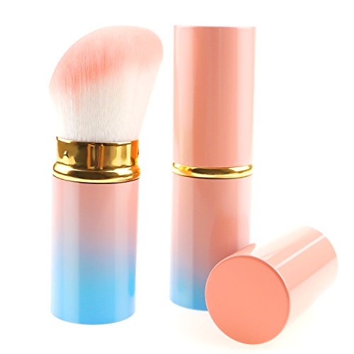 Make-up Pinsel Retractable Rosa/Schwarz/Gradienten Blush Pinsel Kabuki Soft Mineral Foundation...