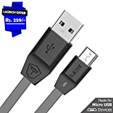 #1: Tukzer Premium Micro-USB to USB Cable V2.0 Fast Charging 2.4 Amp & Data Cable [1M/3.2ft - Gray]