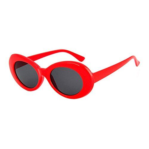 YUHANGH Top Fashion White Kurt Brille Damen Herren Oval Sonnenbrillen Vintage Retro De Soleil Für Party