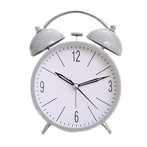 Wecker FJH Einfacher großer digitaler ruhig und niedliches schläfriges faules Doppeltes Bell-Nachtlicht-modernes Art- und Weisebett-schönes Haus Kreative Persönlichkeit 4 Farbe wahlweise frei