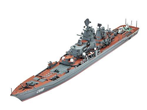 Revell Modellbausatz Schiff 1:700 - Petr Velikiy im Maßstab 1:700, Level 5, originalgetreue Nachbildung mit vielen Details, 05151
