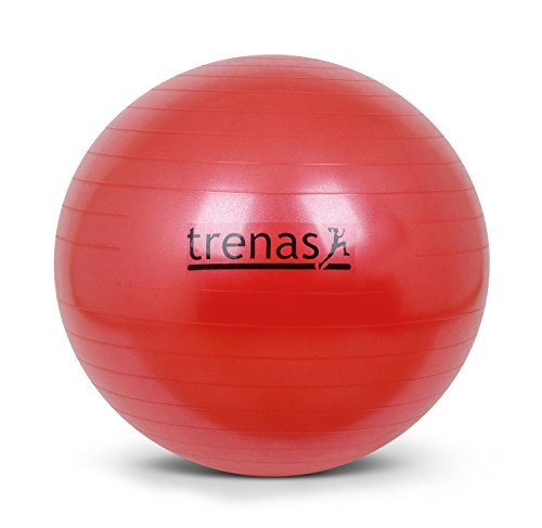 Berstsicherer Gymnastikball - Sitzball - 75 CM - Rot - mit Pumpe