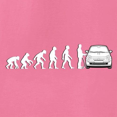 Evolution of Man - Fiat 500 Fahrer - Damen T-Shirt - 14 Farben Azalee