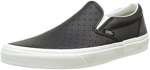 Vans Ua Classic Slip-On, Baskets Basses Homme, Noir (Leather Perf), 46 EU