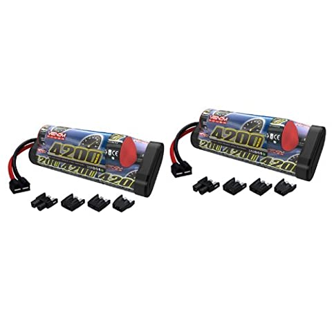 Venom 9.6v 4200mAh 8-Cell Hump NiMH Battery with Universal Plug System x2 Packs