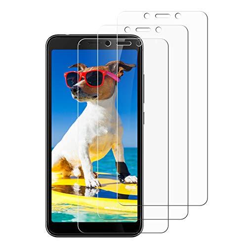 Flysee Protector de Pantalla para Xiaomi Redmi 6 / Redmi 6A, [3-Unidades] Cristal Templado para Xiaomi Redmi 6 / Redmi 6A, Sin Burbujas, Alta Definicion [9H Dureza, Anti-Arañazos]