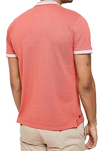 Threadbare Herren Blusen Poloshirt, Einfarbig grün grün Coral - Red