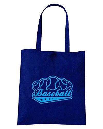 T-Shirtshock - Borsa Shopping SP0017 Baseball Stars Maglietta Blu Navy