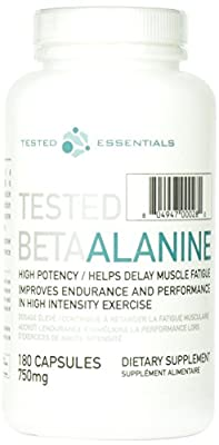 Tested Nutrition Beta Alanine Capsules - Pack of 180