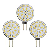 3x Stück - G4 LED dimmbar mit 1,4 Watt (21x SMDs) 12V AC/DC 120° Grad (rund) warmweiß Leuchtmittel G4 Lampensockel Spot Halogenersatz Lampe Dimmer [Energieklasse A++]