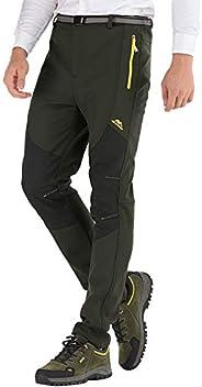 DAFENP Pantalones Trekking Hombre Impermeables Pantalones de Trabajo Termicos Montaña Senderismo Esqui Snowboa