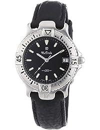 Mx Onda  - Reloj Analógico de Cuarzo para Mujer, correa de Cuero color Negro