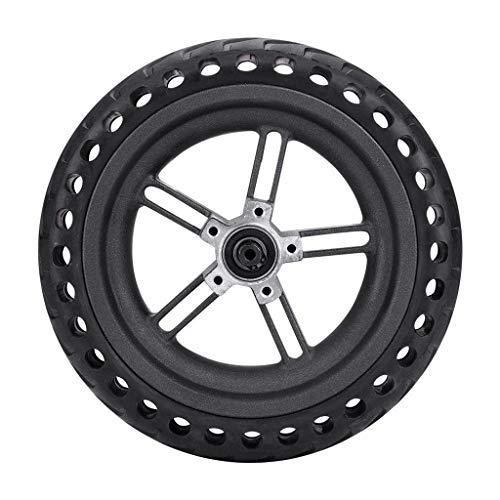 Laile 8,27 Zoll explosionsgeschützter Reifen und Felgen solide Reifen Roller Rad solide ersatzreifen für xiaomi M365 Elektro Roller,Explosionsgeschützte und druckfeste Wabenstoßdämpfung (Schwarz)