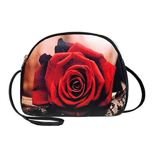TianHengYi Teen Girls Small Square Flap Nylon Cross-body Shoulder Bag Casual Lightweight Messenger Bag Black