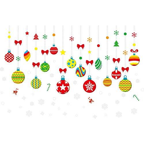 YouN Weihnachten Xmas Lights Wasserdicht PVC Wandaufkleber Windows Removable Decals -