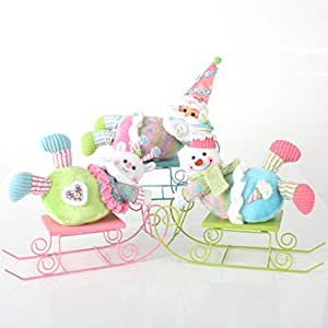 12 cupcake heaven luge vert d coration de no l avec for Decoration de noel amazon
